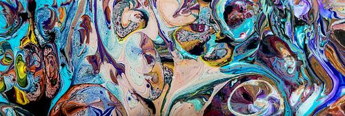 Acryl kunst 2105 panorama van