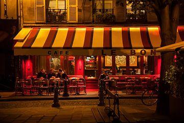 Café le Bonaparte handgefertigtes Digipainting von Maarten Visser