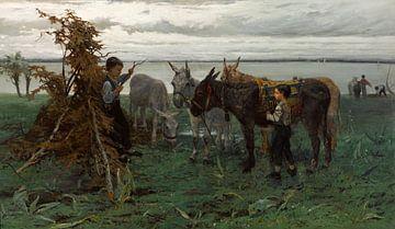 Jungen, die Esel hüten, Willem Maris.
