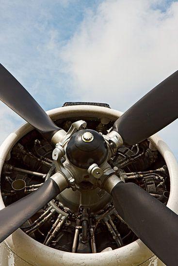 Old AN-2 vliegtuig propeller