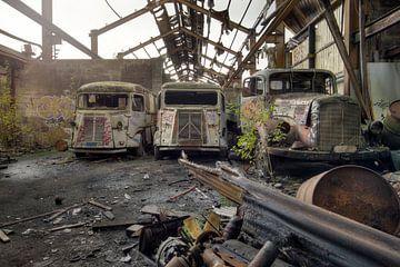 verlaten busjes van Kristof Ven