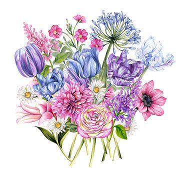 Boeket bloemen van Geertje Burgers