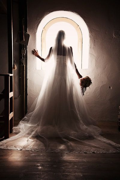Bruid en raam van PAM fotostudio