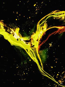 Engel van de Nacht - abstract geel