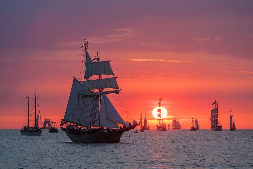 Segelschiffe auf der Hanse Sail in Rostock sur Rico Ködder