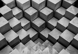 Abstract - blokken perspectief van