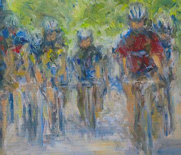 Tour de France expressionistische Malerei Ölgemälde von Paul Nieuwendijk