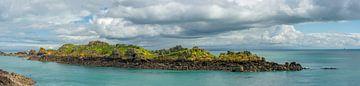 De granietrotsen bij Cancale (Bretagne, Frankrijk) van