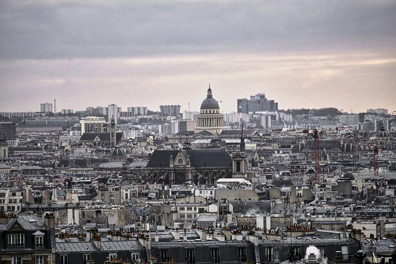 Uitzicht over Parijs van Marcel Kool
