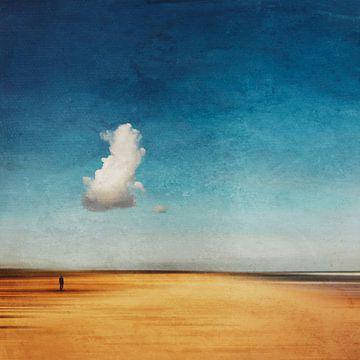 Mijn wolk - Abstract strandlandschap van Dirk Wüstenhagen