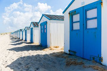 Strandhuisjes, Texel von Ton Drijfhamer
