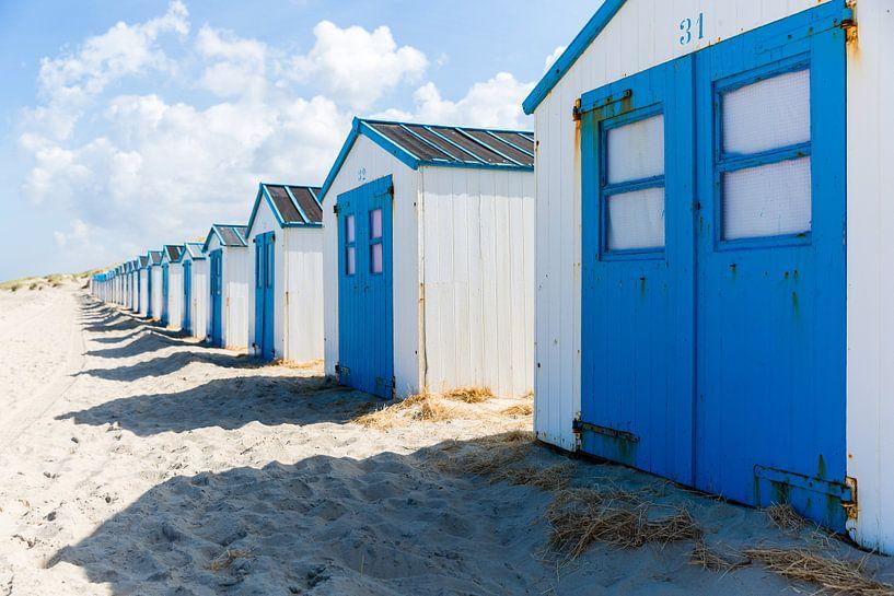 Strandhuisjes, Texel van Ton Drijfhamer