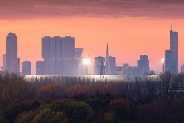 De Kuip - Feyenoord en Skyline Rotterdam van Vincent Fennis