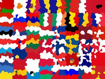 Vlaggen van Europa 5: vervormd van Frans Blok