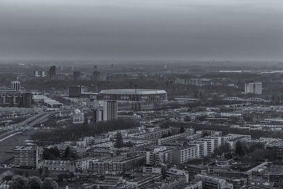 Feyenoord Rotterdam Stadium 'De Kuip' from 'The Rotterdam' van Tux Photography