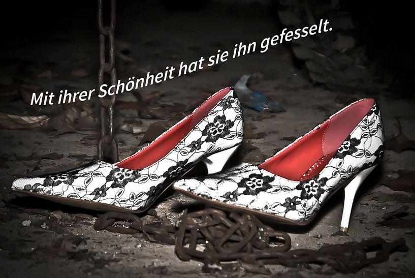 Met haar schoonheid heeft ze hem geboeid. van Norbert Sülzner
