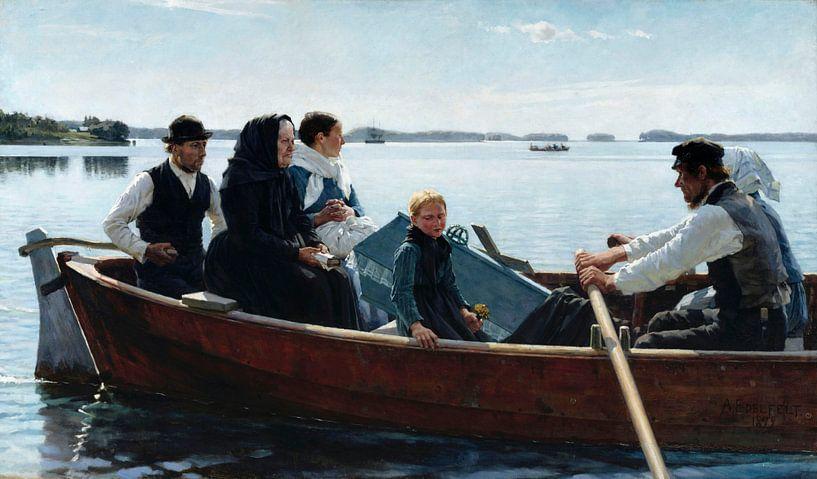 Transport eines Kindersarg, Albert Edelfelt von Meesterlijcke Meesters