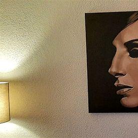Klantfoto: Barbra Streisand schilderij van Paul Meijering, op canvas