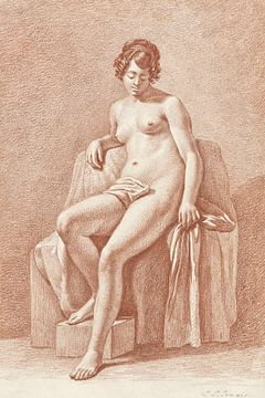 Sitzender weiblicher Akt, Jan Lodewijk Jonxis (1799-1867) von Atelier Liesjes