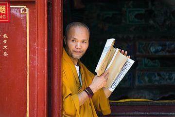 Étudier moine en formation sur