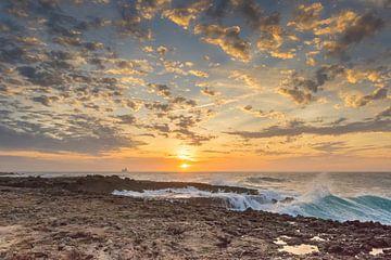 Golden Aruban Sunset  van Meliza  Lopez