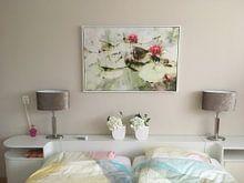 Klantfoto: Roze waterlelies van Paula van den Akker, op canvas