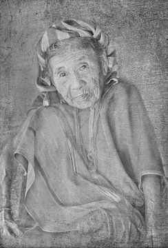 Oude Thaise dame van