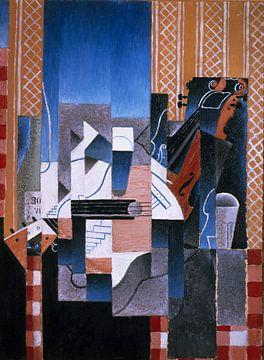 Juan Gris, Viool en Gitaar - 1913 van Atelier Liesjes