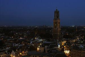 Dom Utrecht bij nacht