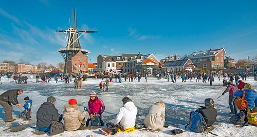 Haarlem Winterscene Adriaan's Mill van