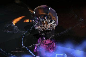 Glazen schedel van Norbert Barthelmess