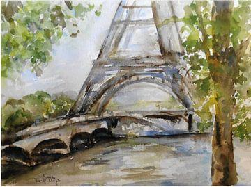 Der Eiffelturm am Seine. von