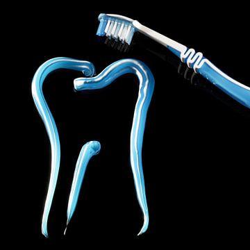 Tanden en tandenborstel van Achim Prill