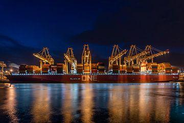 It's a big ONE! De ONE Stork is een gigantisch containerschip van Ocean Network Express (ONE). van Jaap van den Berg