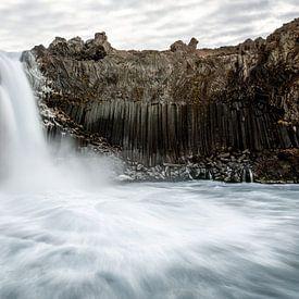 Aldeyjarfoss de basaltwaterval in Noord IJsland van Gerry van Roosmalen