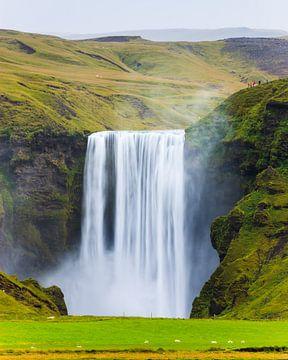 Waterval Skogafoss, IJsland van Henk Meijer Photography