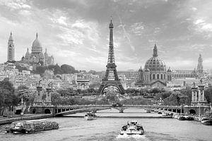 Parijs in een notendop z/w van