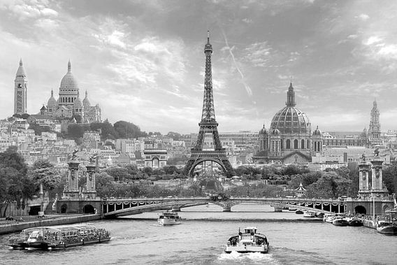 Parijs in een notendop z/w