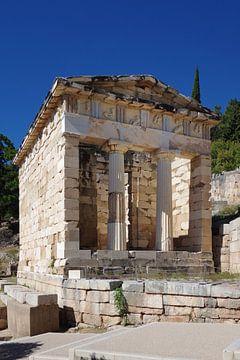 Delphes, la maison du trésor des Athéniens sur Berthold Werner