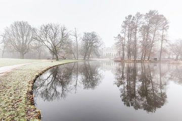 Vondelpark in de mist van