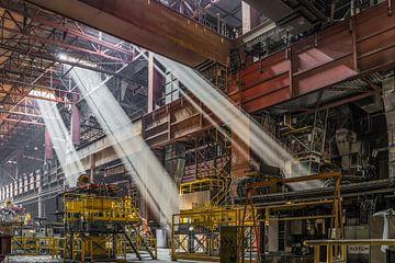 Verlaten staalfabriek in België van