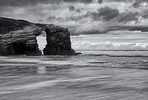 Playa de las Cathedrales Asturië Spanje van