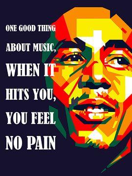 Pop Art Bob Marley van Jan Willem van Doesburg