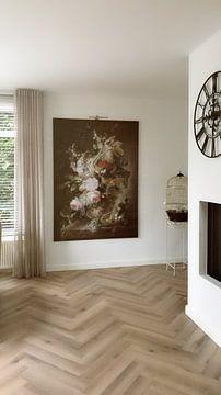 Kundenfoto: Vase mit Blumen, gefolgt von Jan van Huysum