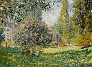 Landschap: The Parc Monceau, Claude Monet van Meesterlijcke Meesters