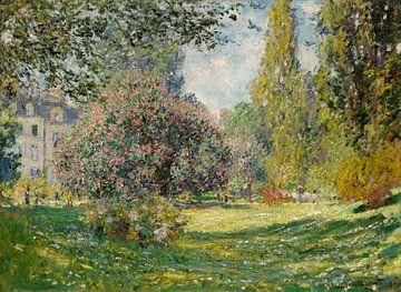 Paysage: Le Parc Monceau, Claude Monet sur