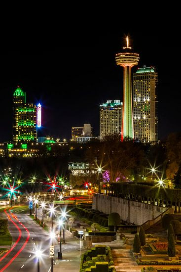 NIAGARA FALLS CANADA nacht indruk