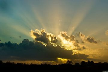 stralende wolken von George Burggraaff