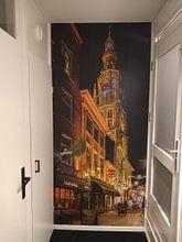 Klantfoto: Breda in de avond (vanuit de schoolstraat) van Alex Riemslag, als behang