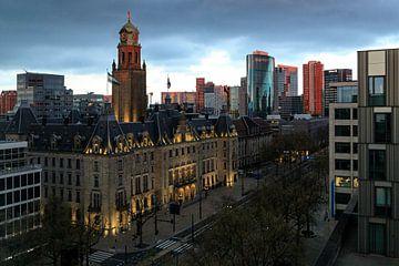 Rotterdam in der Abendsonne von Hans Vos Fotografie